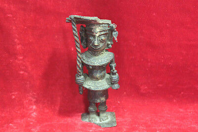Brass Tribal Man Figure Statue Handcrafted Antique Rare Vintage Collectible PW96