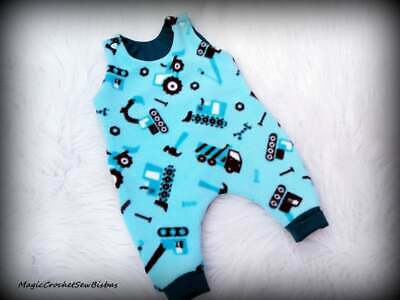US Sale Newborn Baby Boys Girls Cartoon Car Romper Bodysuit Jumpsuit Outfits Set
