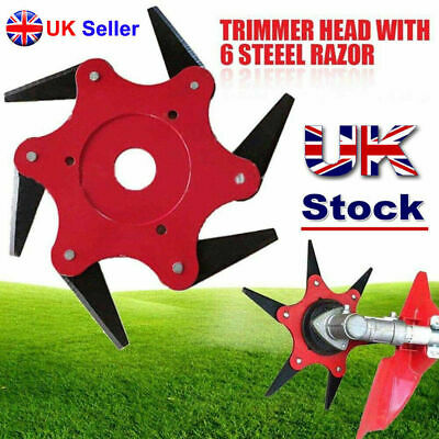 Grass Trimmer Head 6 Teeth Brush Cutter Steel Best Garden Strimmer Mower Blade