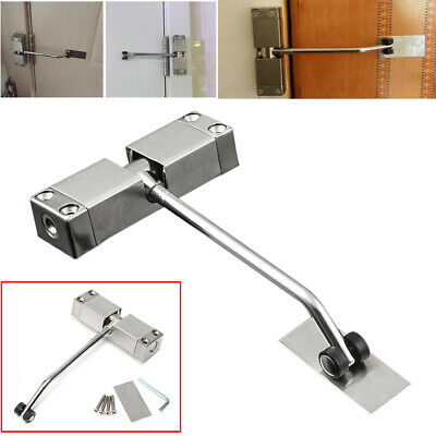 Surface Mounted Door Closer Spring Loaded Adjustable Automatic Fire Rated Metal