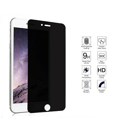 Privacy Anti-Spy Real Tempered Glass Screen Protector Shield For Apple iPhone JU