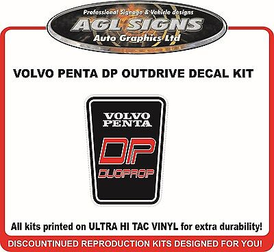 VOLVO PENTA DP duoprop Outdrive Reproduction Decal Kit