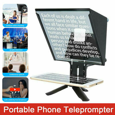 YS-ZX5 Aluminium Alloy Teleprompter Phone for Interview Mobile Phone Cameras DH