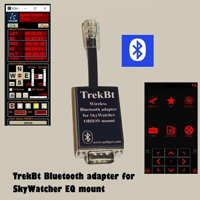 TrekBt - Bluetooth adapter for direct control of EQ Skywatcher and ORION mounts