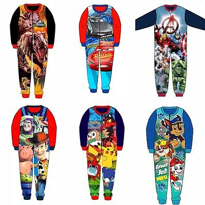 Boys Girls Kids Official Licensed Character Various Fleece Long Sleeve Pyjamas