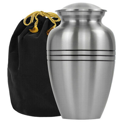 Grace and Mercy Beautiful Pewter Adult Urn for Human Ashes - with Velvet Bag