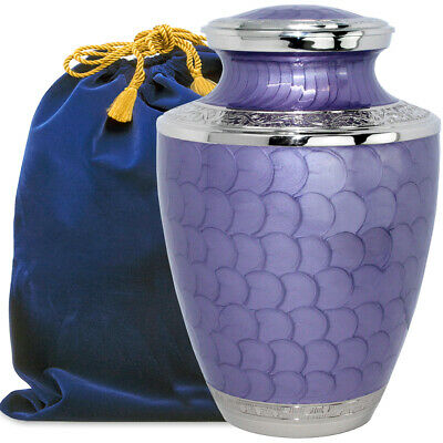 Eternal Peace Lovely Lavender Adult Cremation Urn for Human Ashes - w Pouch