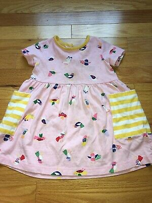 NEW Hanna Andersson Pink /& Red Striped Cotton Play Dress Szs 90 100 110 3T 4T 5T