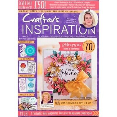 Crafters Inspiration Magazine Issue 23 With Free £50 Craft Kit Die Stamps  2019