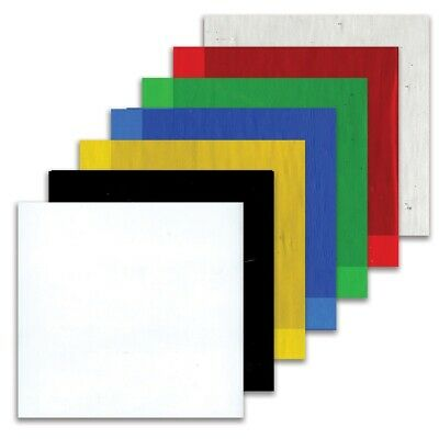 """Fuseworks 3X3-inch Colored Glass  - 3X3"""", 7-Count Assorted"""