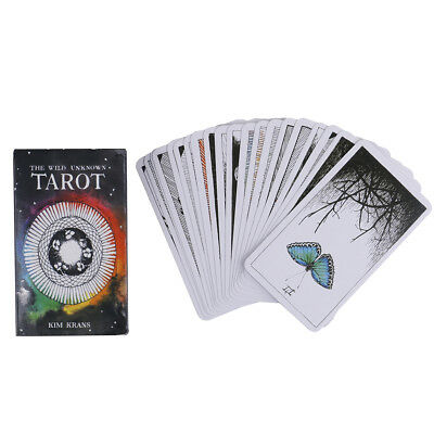 78pcs the Wild Unknown Tarot Deck Rider-Waite Oracle Set Fortune Telling CardsS8