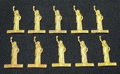 (10) Vintage * STATUE OF LIBERTY * New York * STAMPED BRASS Ornament, Charm