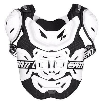 Leatt Mx And Enduro 5.5 Pro Mens Body Armour Chest Protection - White One Size