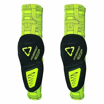 Leatt 3df Hybrid Elbow Guards Mens Body Armour Pads - Black Lime All Sizes