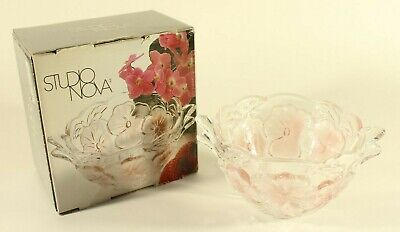 Studio Nova 'Pink Pansy' Bouquet Glass Serving Dish Made in Germany