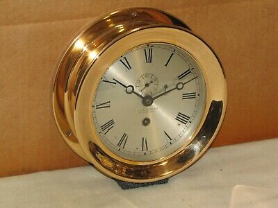 Chelsea Antique Ships Clock~6 In. Dial~1908~Red Brass~101 Years Old~Restored