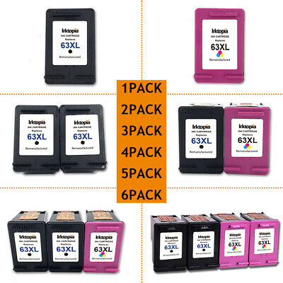 New Chip Lot #63 XL Ink for HP Envy 4520 4516 Officejet 4650 3830 3831 5255 5258