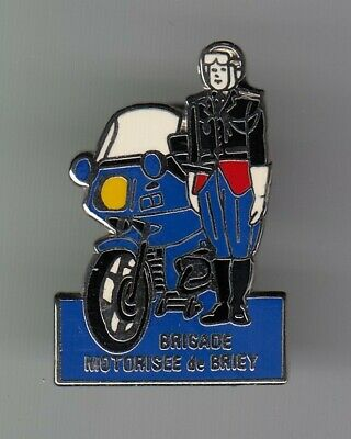 Rare Pins Pin's .. Gendarmerie Nationale Moto Bmw Bmo Brigade Briey 54 ~El