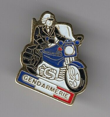 Rare Pins Pin's .. Gendarmerie Nationale Moto Bmw Bmo Brigade Motorise Or ~El