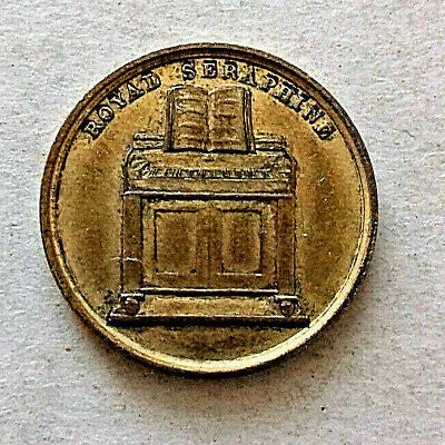 19TH Cent ROYAL SERAPHINE J.GREEN INVENTOR BRASS TOKEN 33 SOHO SQUARE