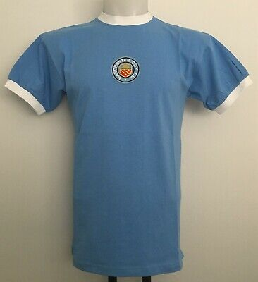 MANCHESTER CITY 1970 S/S HOME SHIRT No.8 BY SCORE DRAW SIZE MEN'S SMALL NEW