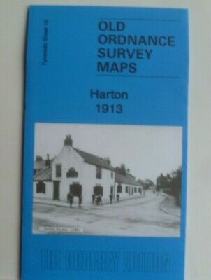 Old Ordnance Survey Detailed Maps Harton Tyneside 1913 Godfrey Edition New