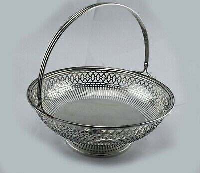 "Watson Sterling Silver #3287 Centerpiece Basket 9.2 oz. Reticulated 7 1/2"" Wide"