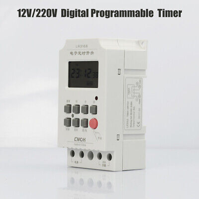 12V/220V 25A/30A LCD Digital Electronic Programmable Time Control Timer Switch