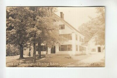 Real Photo Postcard The Old New England Dining Room Warner NH