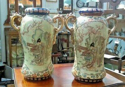 Stunning Pair of late 19th early 20th Century Chinese Vases Fully Marked