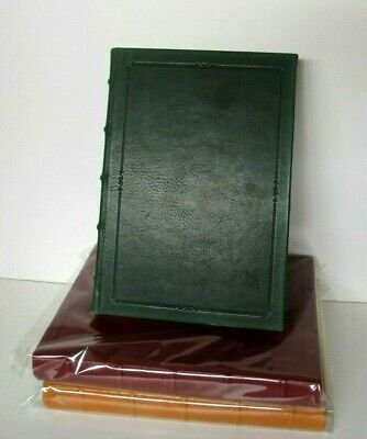 """Writing Journal 8"""" Leather Hard Cover Lined Pages Archival Paper Graphic Image"""