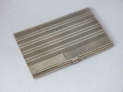 Solid Sterling Silver Card Case c. 1960/ L 9.2 cm/ 66 g