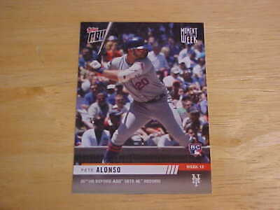 Pete Alonso 2019 Topps Now #MOW-12 25th HR Before All-Star Game NL Record Mets
