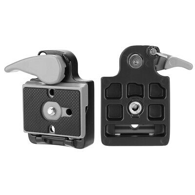 """Quick Release Clamp Adapter Plate for DSLR Camera Tripod Ball Head 1/4"""" Alloy"""