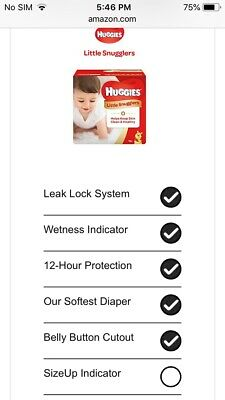 Huggies Little Snugglers Baby Diapers, Size Newborn, 132 Count, GIANT PACK