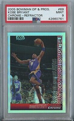 Kobe Bryant 2005 06 Bowman chrome #69 Los Angeles Lakers refractor 213/300 PSA 9