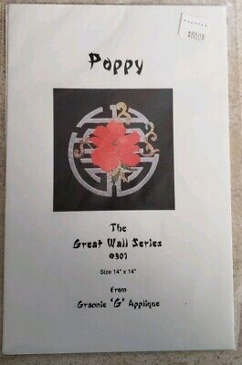 Poppy Applique Quilt Pattern By Ocarol Designs 16 00