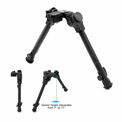 """UTG Leapers Tactical Over Bore Bipod 7""""-11"""" Center Height Picatinny Aluminum"""