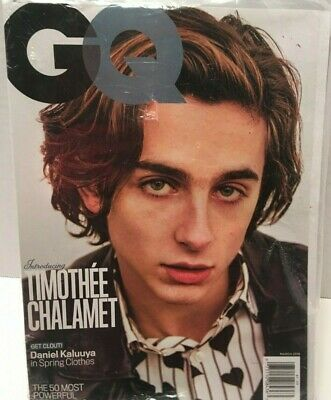 Gq Magazine March 2018 Timothee Chalamet Call Me By Your Name Daniel Kaluuya