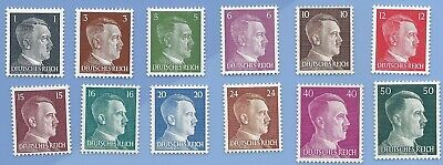 Nazi Germany Third Reich Nazi Adolf Hitler Stamp lot MNH WW2 Era #26