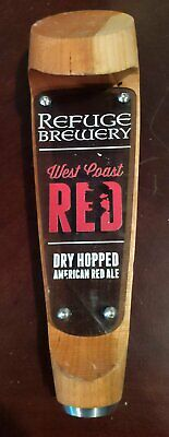 Refuge Brewery West Coast Red Dry Hopped American Red Ale Beer Tap Handle