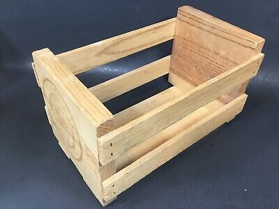 Vintage NAPA VALLEY BOX CO.  20 CD Compact Disc Wood Crate Storage Box Rack Case