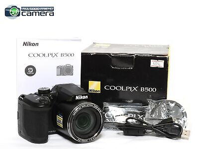 Nikon COOLPIX B500 16.0MP Digital Camera Black 40x Optical Zoom *MINT- in Box*