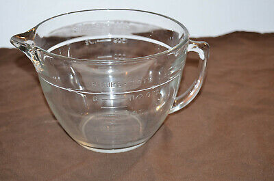 Anchor Hocking Mixing Batter Bowl Measuring 8 Cup 2 Quart Clear Glass