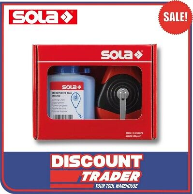 SOLA Blue Chalk Line Reel Set 30m CLP30SETB - 66110643