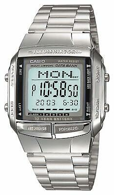 CASIO Data Bank DB-360-1AJF Digital Watch 13 Languages Supported Metal Band