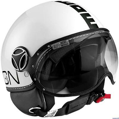 taille ML quartz Momo Fighter FGTR Evo Casque /à double visi/ère blanc