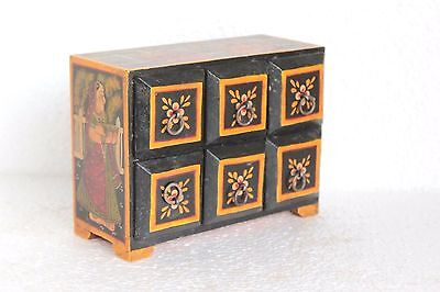 Small 6 Drawer Chest New Antique Handpainted Handicrafts Home Decor W-9