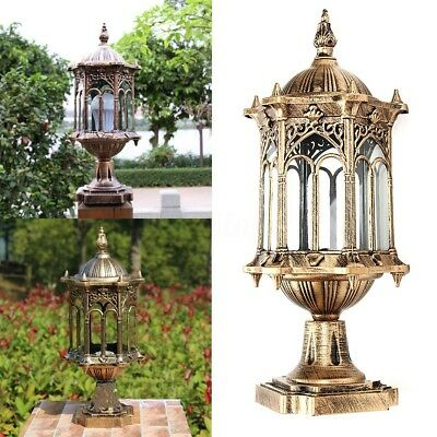 AU Vintage Wall Light Post  Lanterns Waterproof Bronze Outdoor Garden Retro