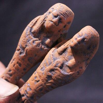 USHABTI PAIR Ancient Egyptian Tomb Figurines